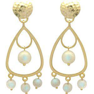 Jewelry - Moonstone Dangle Drop Earrings NWT